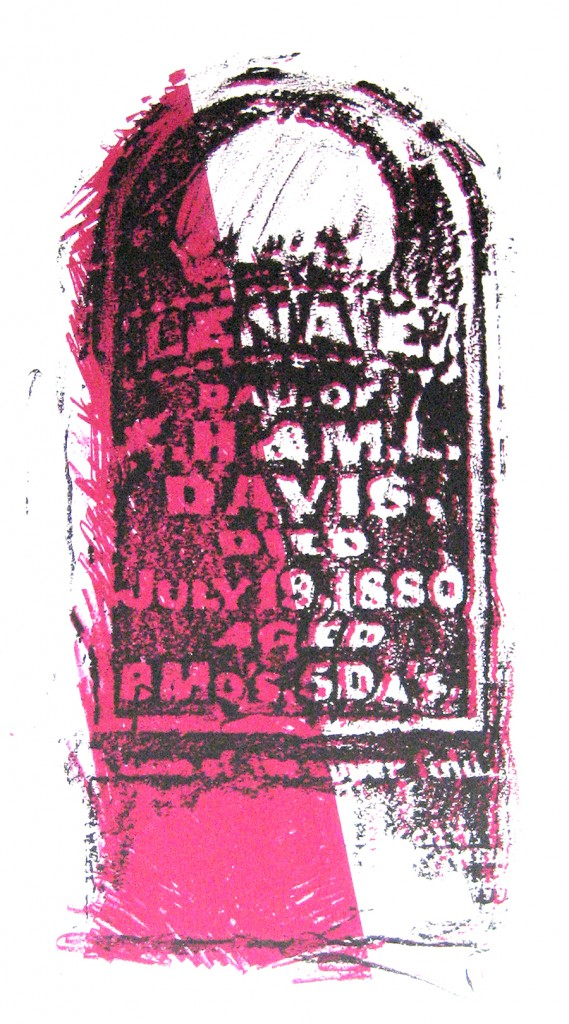 Grant_Lena Davis tombstone litho